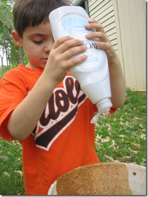 Adding Liquid Dish Soap to the Clay