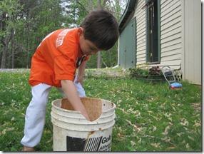 Mashing the Clay Chunks