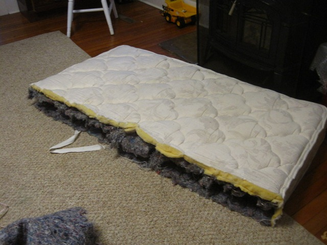 Turning An Old Mattress Into A Dog Bed Growing Our Green Beans