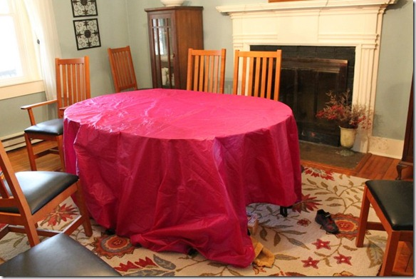 dining room table fort