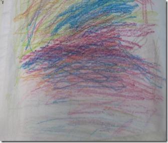 crayon fabric art